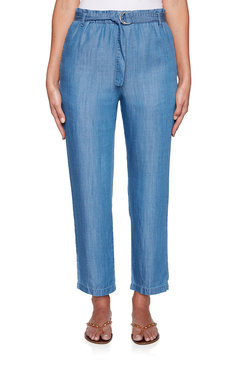 Image: Belted Chambray Pants