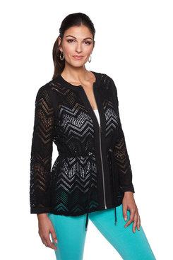 Image: Chevron Lace Jacket