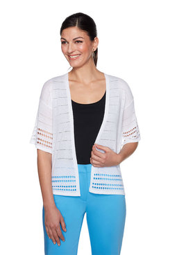 Image: Crepe Knit Sweater Cardigan