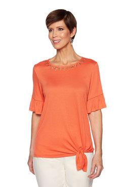 Image: Crinkle Side Tie Top
