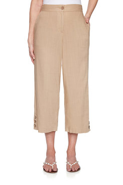 Image: Cropped Linen Pant