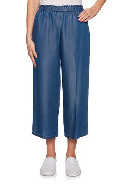 Image: Denim Wide Leg Trouser
