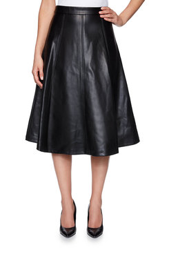 Image: Faux Leather Skirt