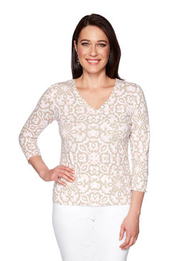 Image: Floral Medallion Top