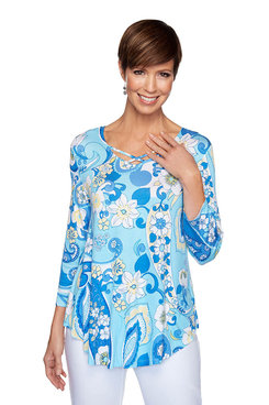 Image: Floral Paisley Print Top