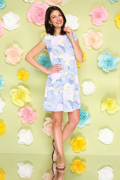 Image: Floral Poppy Puff Printed Dress