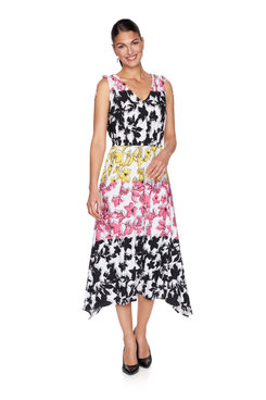Image: Floral Printed Handkerchief Dress