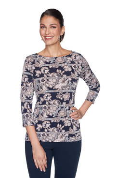 Image: Flowering Puff Print Top