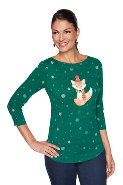 Image: Foxy Holiday Top