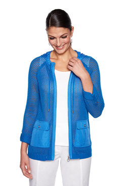 Image: Front Zipper Mesh Jacket