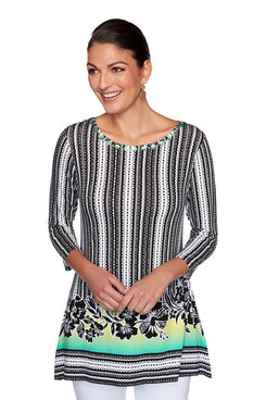 Image: Hibiscus Striped Top