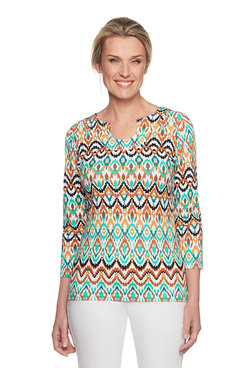 Ikat Printed Top