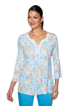 Image: Island Floral Jersey Top