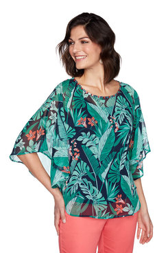 Image: Jungle Print Butterfly Top