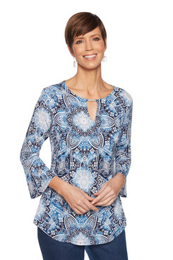 Image: Kaleidoscope Bell Sleeve Top