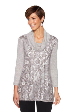 Image: Knit Patchwork Top