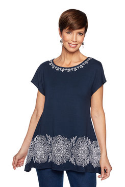 Image: Medallion Print Top