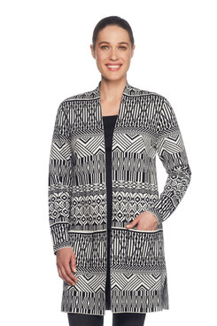 Optic Jacquard Cardigan