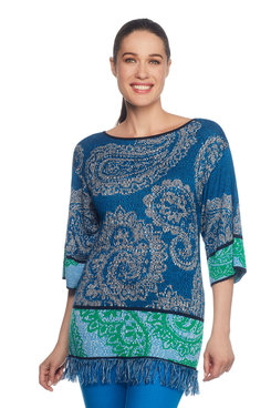 Paisley Jacquard Pullover