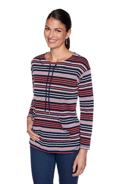 Image: Pebbled Stripe Pullover