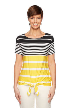 Image: Petite Beach Stripe Top