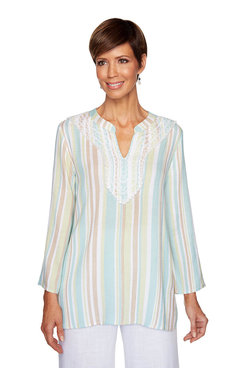 Image: Petite Beachcomber Striped Top