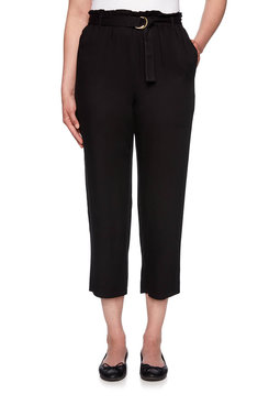 Image: Petite Belted Silky Rayon Pant