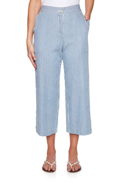 Image: Petite Cruise Striped Wide Leg Pant