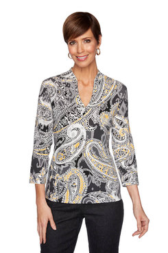 Image: Petite Embellished Paisley Top