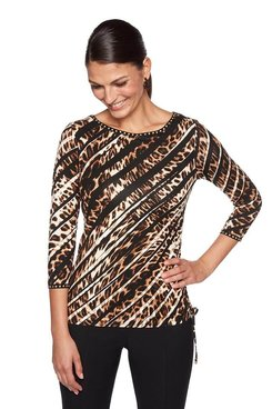 Image: Petite Embellished  Safari Top