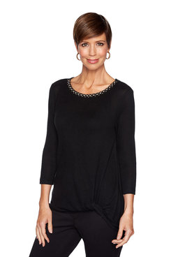 Image: Petite Embellished Side knot Top