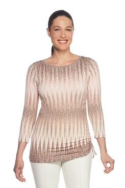 Image: Petite Embellished Side Ruching Top
