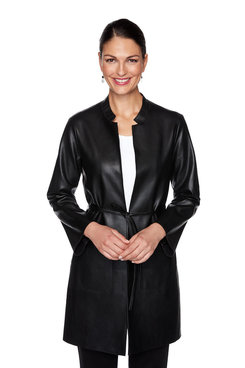 Image: Petite Faux Leather Jacket