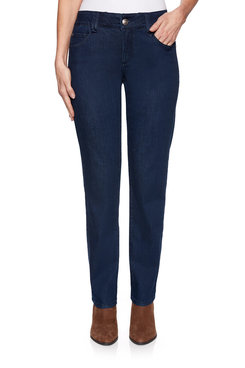 Image: Petite Fly Front Denim Pant