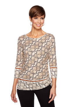 Image: Petite Foil Animal Print Top