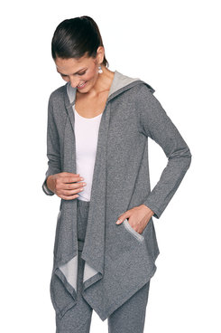 Image: Petite French Terry Cardigan