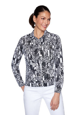 Image: Petite Graphic Printed Knitted Twill Jacket