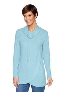 Image: Petite Knit Heather Top