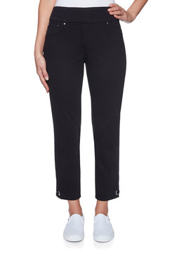 Image: Petite Knitted Twill Ankle Pant