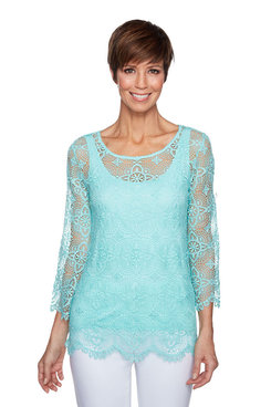 Image: Petite Medallion Lace Top