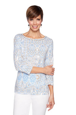 Image: Petite Moroccan Paisley Knit Top