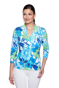 Image: Petite Must Have Cubist Floral Top