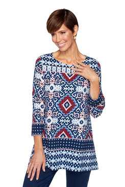 Image: Petite New Horizon Knit Top