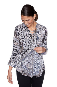Image: Petite Paisley Patchwork Top