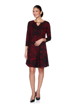 Image: Petite Paisley Sweater Dress