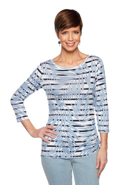 Image: Petite Palm Stripe Top