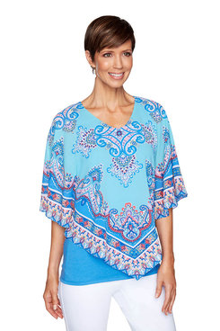 Image: Petite Printed Butterfly Top