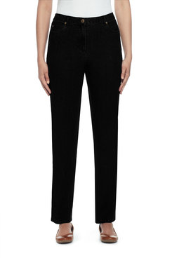 Image: Petite Proportioned Medium Easy Fit Jean