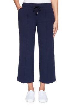 Image: Petite Pull-On Drawstring French Terry Ankle Pant