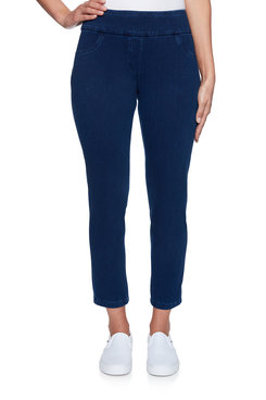 Image: Petite Pull-On Knitted Twill Ankle Pant
